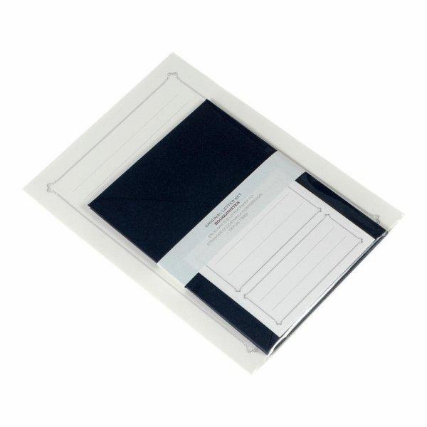 深い色めの洋封筒とクラシカルなフレームで飾った便箋のセットです 封筒は ダイヤモンド貼の洋2サイズ 定形 で 便箋を2つ折にして入れられます メール便OK 大決算セール 日本製 上品でアンティークな印象のレターセット EDC LT2-D2-06 おしゃれ Dブルー 封筒5枚入り 手紙 便箋10枚 A5レターセット 洋風 シンプル マート