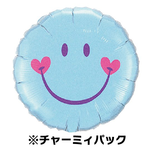 Chamie Pack 18 Sweet Smile Face Peel Blue Diameter 45 Cm 15 L Film Balloon Balloons Birthday Decorations Man Boy Girl