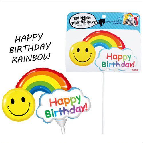 Balloon Photo Props Happy Birthday Rainbow Party Toy Shooting Balloons Paw Art 1 Year Old 2 Years 3 Herfbirthday