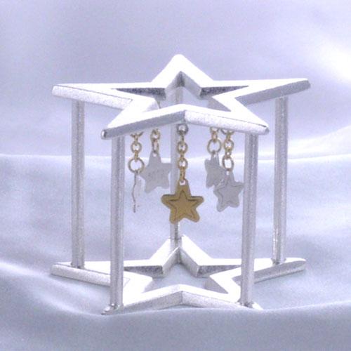 【茶道具】【送料代引手数料無料】 唐銅星蓋置喜多庄兵衛作(共箱)