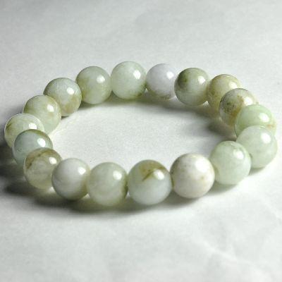 Horoscope Feng Shui Good Luck Stone Natural Jade White Itoigawa Bracelet Bracelets 9 Mm Ball 18 Laps In One 13 5 14 Cm Bs 605