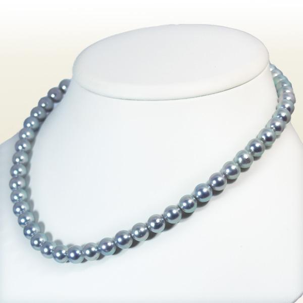 グレー系あこや真珠ネックレス<7.5~8mm>N-11368【当店のクーポンを是非ご利用下さい】