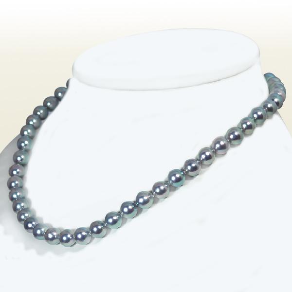 グレー系あこや真珠パールネックレス<7.5~8mm>N-11667【当店のクーポンを是非ご利用下さい】