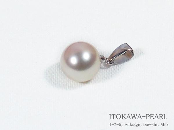 あこや真珠ペンダントトップ<7.9mm>K14WG・ダイヤモンド 0.01ct P-8263【当店のクーポンを是非ご利用下さい】