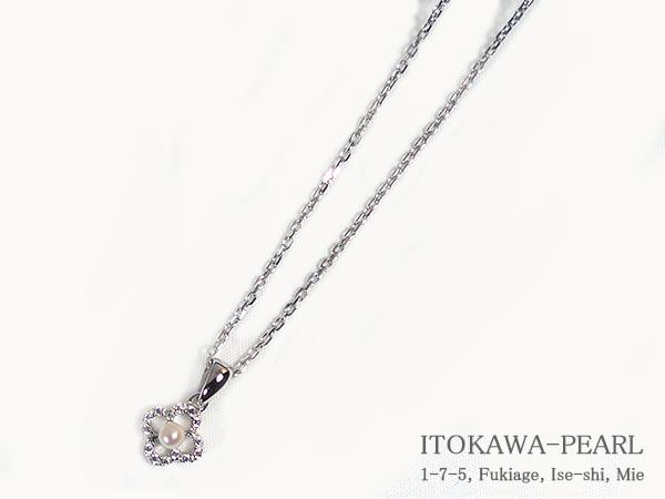あこや真珠ペンダントネックレス<3.0mm>シルバーアズキチェーンP-8179【当店のクーポンを是非ご利用下さい】