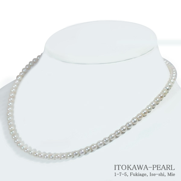 あこや真珠ベビーパールネックレス<4.5~5mm>差し込み式クラスプ N-11112【当店のクーポンを是非ご利用下さい】