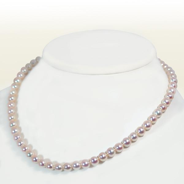 あこや真珠パールネックレス<6.5~7mm> N-9646【当店のクーポンを是非ご利用下さい】