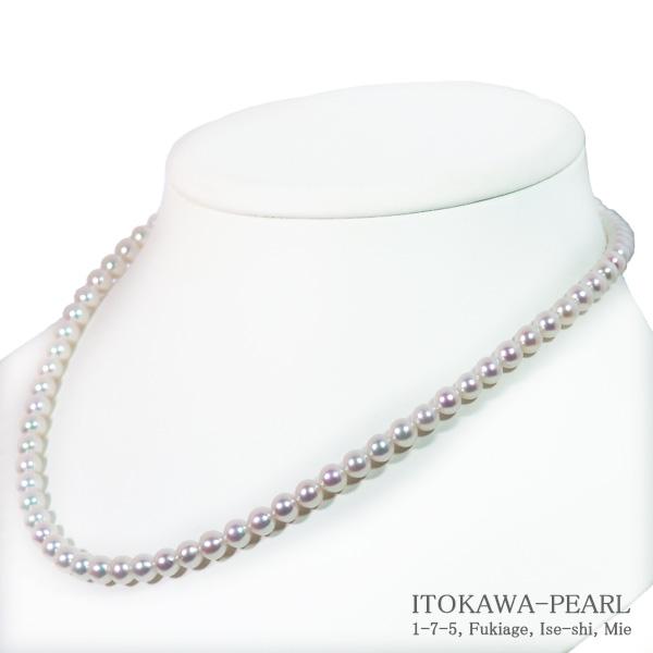 あこや真珠ベビーパールネックレス<5.5~6mm>差し込み式クラスプ N-11888【当店のクーポンを是非ご利用下さい】