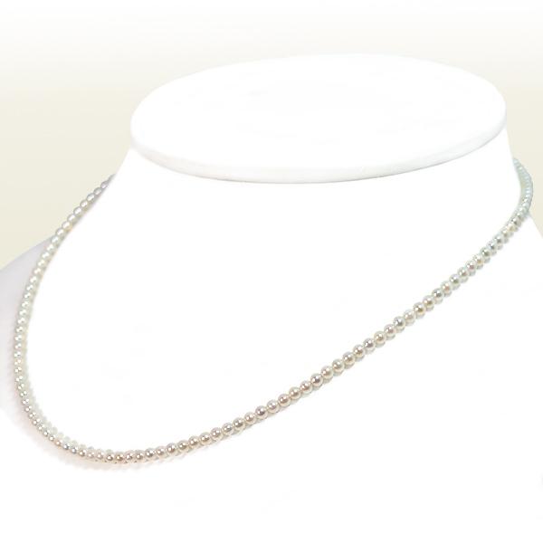 大注目 あこや真珠ベビーパールネックレス 2.5~3mm スライドアジャスター 当店のクーポンを是非ご利用下さい プレゼント N-12362 シルバー