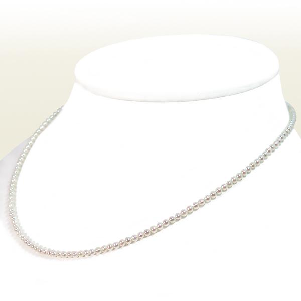 あこや真珠ベビーパールネックレス 2.5~3mm スライドアジャスター シルバー 当店のクーポンを是非ご利用下さい アウトレットセール 特集 公式ストア N-12365
