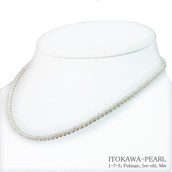 あこや真珠ベビーパールネックレス<3~3.5mm>アジャスター・K14WG N-9151【当店のクーポンを是非ご利用下さい】