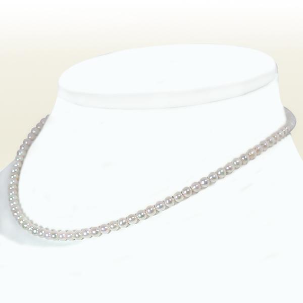 あこや真珠ベビーパールネックレス<3.5~4mm>アジャスター付・K14WG N-4658【当店のクーポンを是非ご利用下さい】