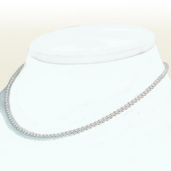 あこや真珠ベビーパールネックレス<2.5~3mm>アジャスター付・K18YG N-11773【当店のクーポンを是非ご利用下さい】