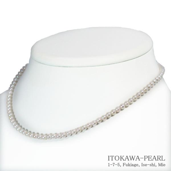 あこや真珠ベビーパールネックレス 3.5~4mm クリアランスsale!期間限定! アジャスター N-4661 お値打ち価格で K14WG 当店のクーポンを是非ご利用下さい