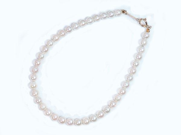 あこや真珠ブレスレット<3.5~4mm>引き輪とプレートタイプ/K18YG(17cm) V-1606【当店のクーポンを是非ご利用下さい】