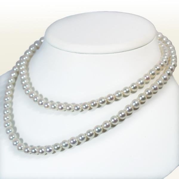無調色ロングネックレス(82.5cm)あこや真珠ネックレス<6.5~7mm>N-11316【当店のクーポンを是非ご利用下さい】