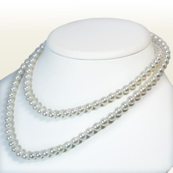 無調色ロングネックレス(82.5cm)あこや真珠ネックレス<6.5~7mm>N-11321【当店のクーポンを是非ご利用下さい】