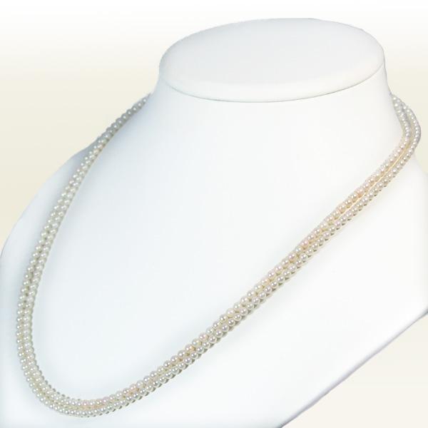 ベビーパールロングネックレス(108cm)あこや真珠ネックレス<3~3.5mm>N-11396【当店のクーポンを是非ご利用下さい】