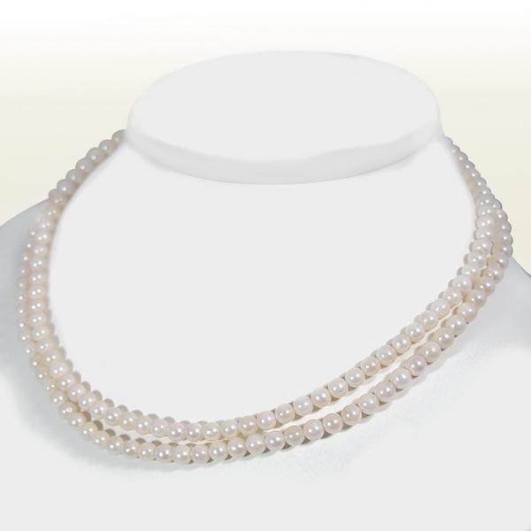 ロングネックレス(88cm)あこや真珠ネックレス<5~5.5mm>N-10608【当店のクーポンを是非ご利用下さい】