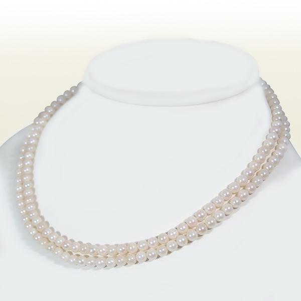 ロングネックレス(88cm)あこや真珠ネックレス<5~5.5mm>N-10609【当店のクーポンを是非ご利用下さい】