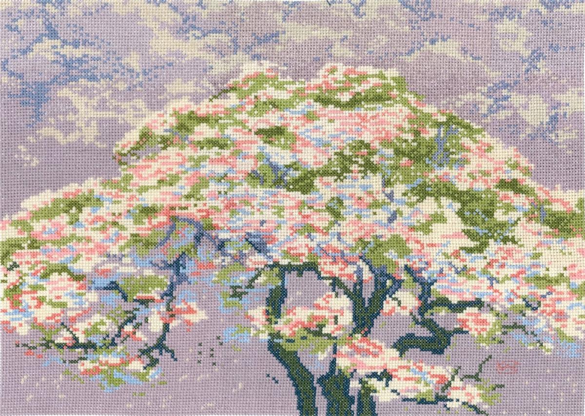 送料無料◆THE BRITISH MUSEUM 『 A Tree in Blossom by William Giles』ウィリアム・ジャイルズの花の木(BL1149 73) ◆DMC刺しゅうキット クロスステッチ刺繍キット 輸入品 名画 絵画 刺しゅうキット