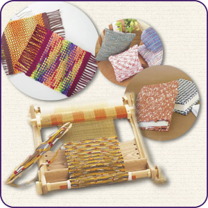 ◆手織り機「咲きおり」40cm◆クロバー製 織物 手芸 織機 プレゼント ハンディサイズ【送料無料】