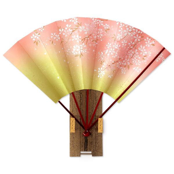 高級飾り京扇子 桜/ゴマ竹台付