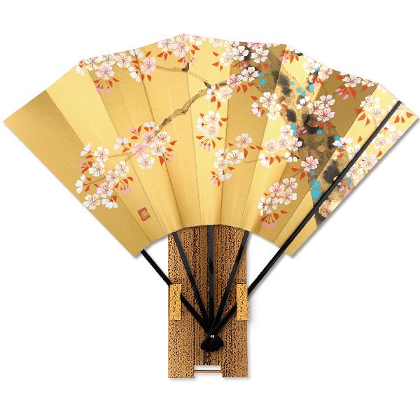 高級飾り京扇子★桜/台付