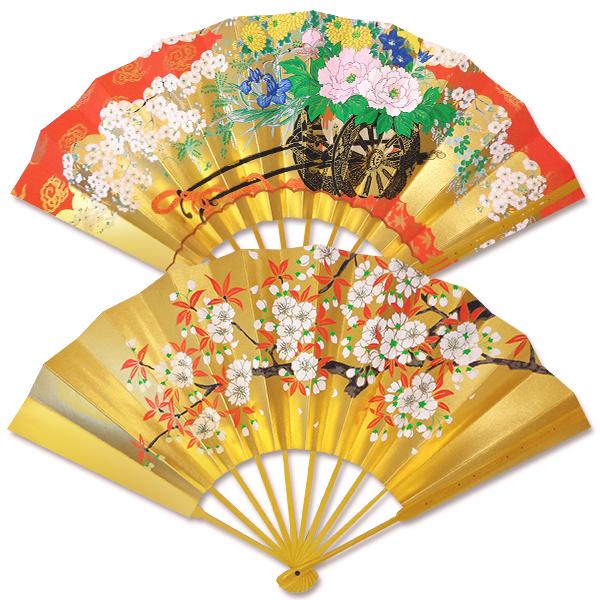 飾り京扇子 高級仕舞扇子 花車/桜