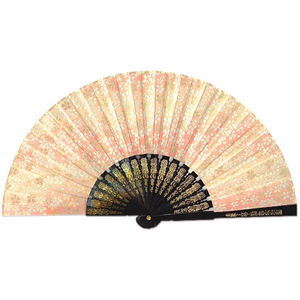 飾り京扇子/金襴櫻 ピンク/25cm