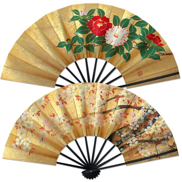 飾り京扇子 舞扇子タイプ 桜/椿