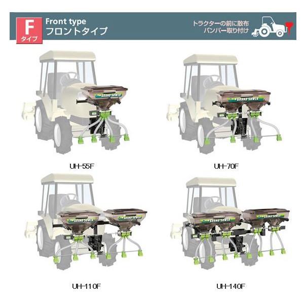 肥料散布機UH-110F-G3イセキ型式を確かめて下さい。