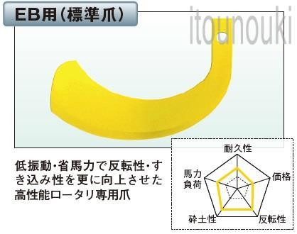 ヤンマー純正 クロスセンターロータリー用 標準爪(EB用) 42本セット [1B1627-18100] 適合をお確かめ下さい