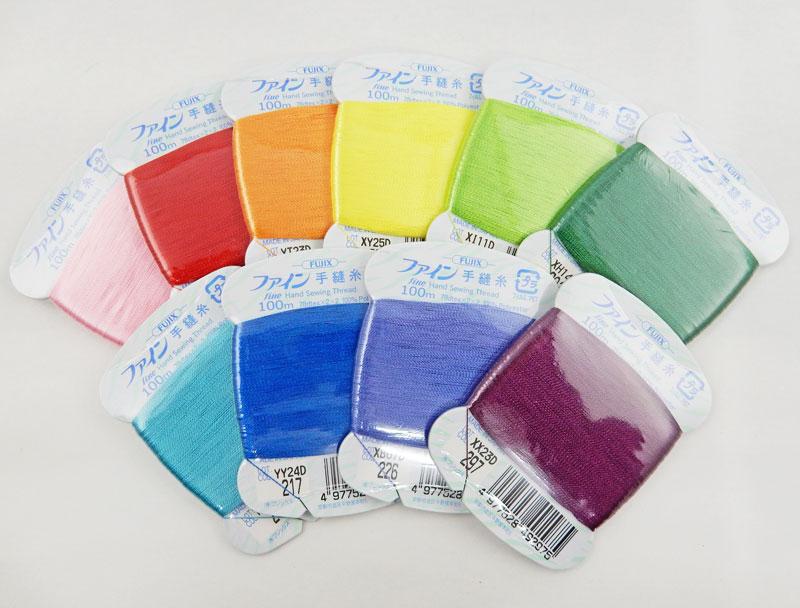 フジックス 販売 ファイン手縫い糸 まつり糸 100m白 当店一番人気 黒 生成