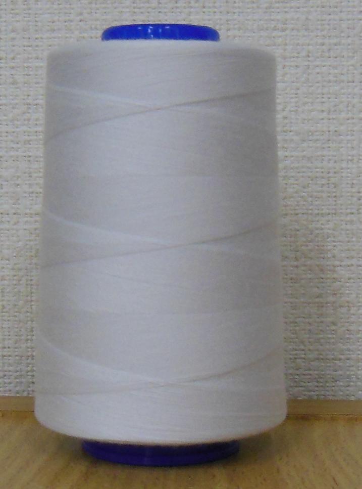 【フジックス】 キング スパン業務用・工業用ミシン糸60番/3000m-カラー白・黒・生成り ※こちらは同色60本入り(1ケース)の商品になります。ばら売りや6本売りではございませんのでご注意ください。