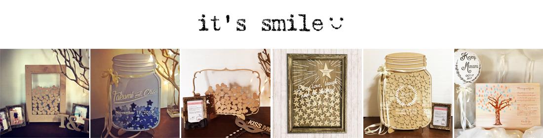 it's smile:ウェディングアイテムを制作します