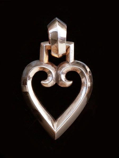 【※ポイント5倍※】REID MFG (リードMFG)【Gothic Heart Pendant (Bronze) / ゴシック ハート ペンダント (ブロンズ)】[正規品](ネックレス/チャーム/ペア/プレゼント/ギフト/ユニセックス/メンズ/レディース)【送料無料】