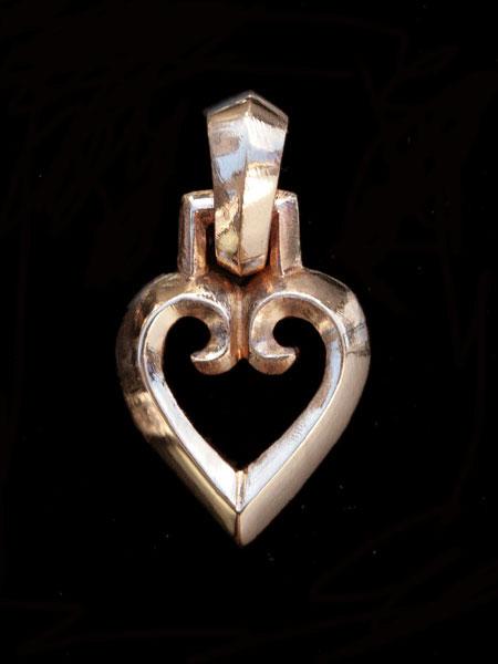 【※ポイント5倍※】REID MFG (リードMFG)【Gothic Heart Charm (Bronze) / ゴシック ハート チャーム (ブロンズ)】[正規品](ネックレス/ペンダント/ペア/プレゼント/ギフト/ユニセックス/メンズ/レディース)【送料無料】