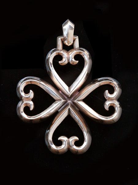 【※ポイント5倍※】REID MFG (リードMFG)【4 hearts Pendant (Bronze) / 4 ハート ペンダント (ブロンズ)】[正規品](ネックレス/チャーム/ペア/プレゼント/ギフト/ユニセックス/メンズ/レディース)【送料無料】