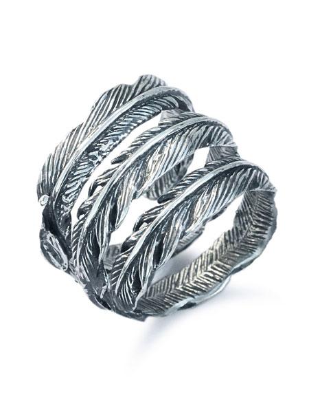 【※ポイント5倍※】GARDEL(ガーデル)【Trinity Feather Ring SV [GDR-090SV] / トリニティ フェザー リング シルバー】[正規品](指輪/3連/シルバー925/スターリングシルバー/ペア/プレゼント/ギフト/ユニセックス/メンズ/レディース)【送料無料】