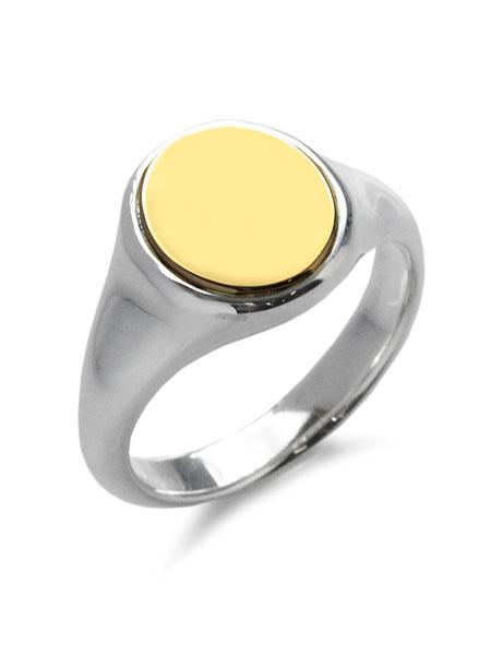【※ポイント5倍※】GARDEL(ガーデル)【ELLISSSE RING (SV × K18YG) [GDR-124] / エレッセ リング (スターリングシルバー × K18イエローゴールド)】[正規品](指輪/印台リング/GOLD/ペア/プレゼント/ギフト/ユニセックス/メンズ/レディース)【送料無料】
