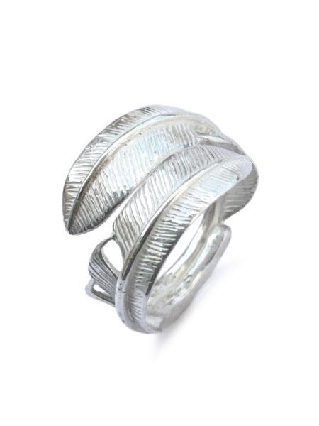 【※ポイント5倍※】Silver Dollar Craft(シルバーダラークラフト)【Small Double Feather Ring / スモール ダブル フェザー リング】[正規品](インディアンジュエリー/シルバー/925/銀/ペア/プレゼント/ギフト/ユニセックス/メンズ/レディース)【送料無料】