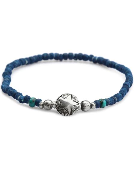 Lapis × シルバー ゴールド 青 × メンズ ブラス 1連 真鍮 /[SK-155/] ブレスレット 銀 レディース Silver 1 Roll Bracelet // ラピス 天然石 宝石 SunKu 藍 (サンク・39)