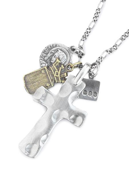 【※ポイント5倍※】amp japan(アンプ ジャパン)【Large Cross with Silver Maria, Brass Crest [3AK-102N] / ラージクロス & マリア クレストネックレス】[正規品](ペンダント/愛用/着用/シルバー/銀/925/ペア/プレゼント/メンズ/レディース)【送料無料】