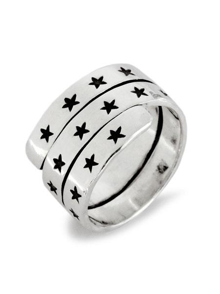 【※ポイント5倍※】BELIEVEINMIRACLE(ビリーブインミラクル)【TRIPLE STAR RING [552-2] / トリプル スター リング】[正規品](3連/指輪/スターリングシルバー/ハンドメイド/星/銀/925/プレゼント/メンズ/レディース)【送料無料】