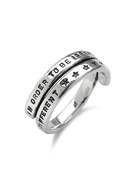 【※ポイント5倍※】BELIEVEINMIRACLE(ビリーブインミラクル)【2R RING / 2連リング】[正規品](指輪/スターリングシルバー/銀/925/プレゼント/メンズ/レディース)【送料無料】