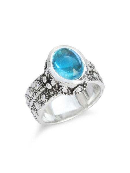 【※ポイント5倍※】Celia de Flers(セリー・デ・フレール)【Sophie ring (Blue Topaz) / ソフィー リング (ブルー トパーズ)】[正規品](リング/指輪/プレゼント/ユニセックス)【送料無料】