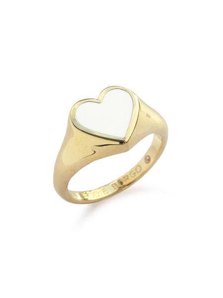 【※ポイント5倍※】Eddie Borgo(エディボルゴ)【ENAMEL HEART PINKY RING S / エナメルハート ピンキーリング】[正規品](指輪/かわいい/きれいめ/大人/パーティー/カジュアル/フォーマル/プレゼント/ギフト/レディース)【送料無料】