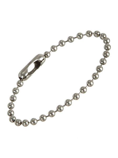 GILES & BROTHER(ジャイルス・アンド・ブラザー)【Silver Ball Chain ブレスレット / シルバー ボール チェーン】[正規品](腕輪/デザイナー愛用/着用/調節可能/シンプル/細身/スターリングシルバー/銀/925/ペア/プレゼント/ユニセックス/メンズ/レディース)【送料無料】