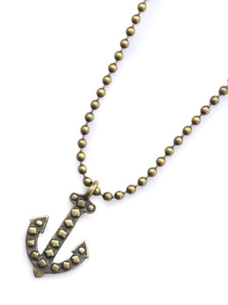 GILES & BROTHER(ジャイルス・アンド・ブラザー)Vintage anchor ball chain necklace ヴィンテージ アンカーボールチェーン ネックレス / ペンダント アンティークゴールド ブラス 真鍮 海 金 メンズ レディース【送料無料】